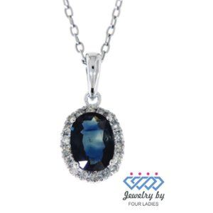 Halo Diamond Birthstone Simple Pendant